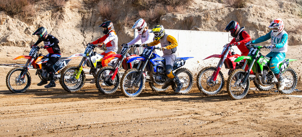Cycle News riders testing 250F motorcycles