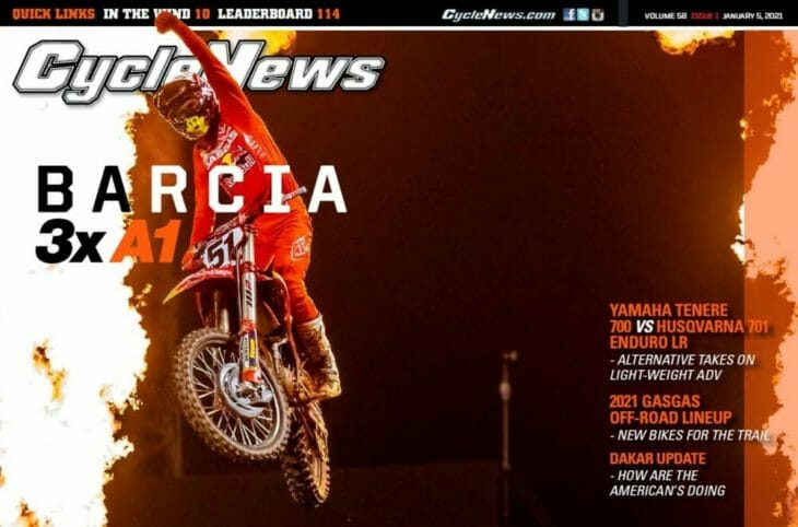 Cycle News 2021 Barcia A1 Fake Cover