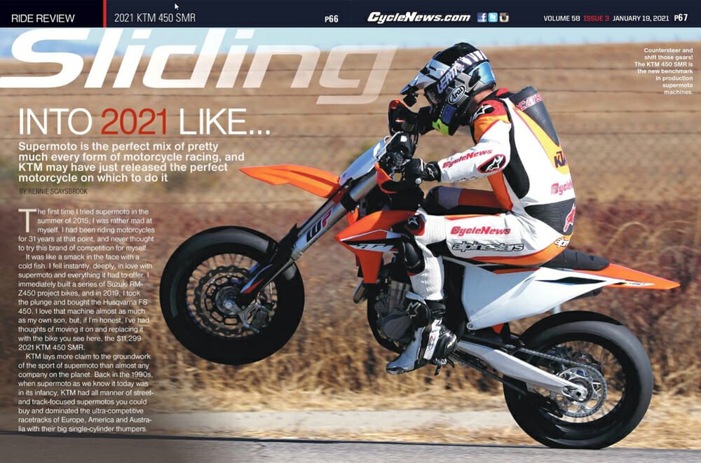 Cycle News Magazine 2021 KTM 450 SMR Review