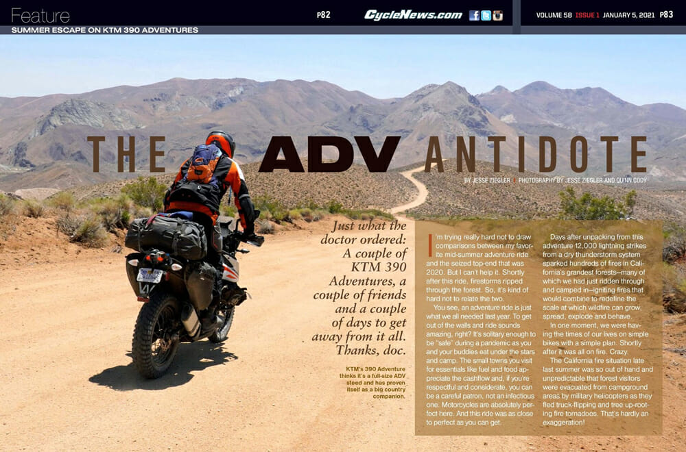 Cycle News Magazine's The ADV Antidote article