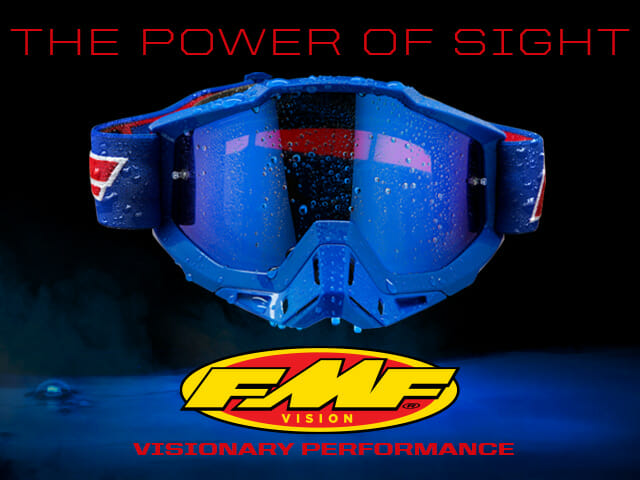 FMF Vision PowerBomb Rocket Blue goggles