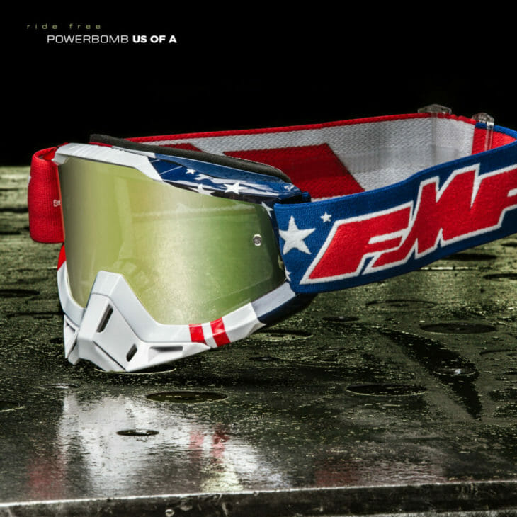 FMF Vision PowerBomb US of A goggles