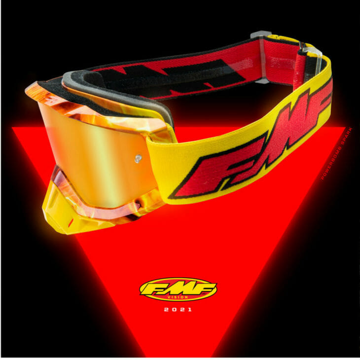 FMF Vision Powercore Flame red goggles