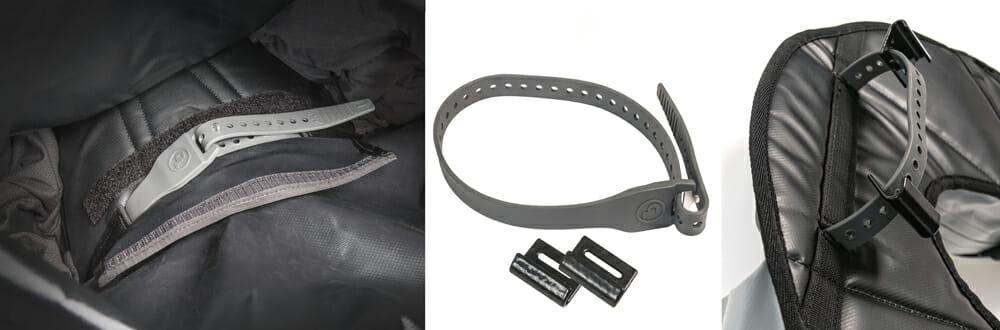 Giant Loop Pronghorn strap and fender hooks
