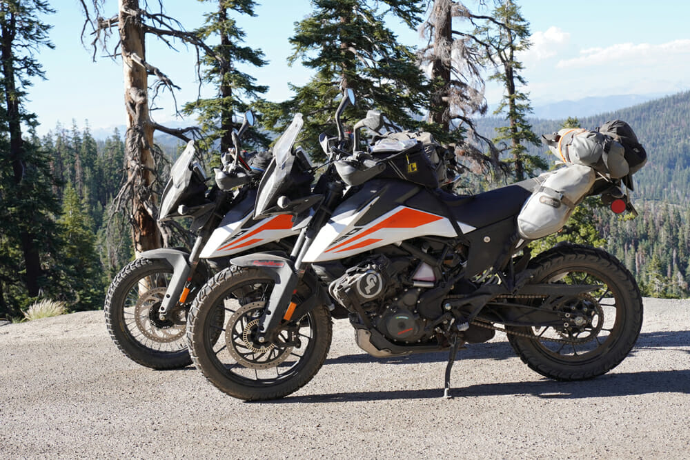 KTM 390 Adventure stock and accessorized