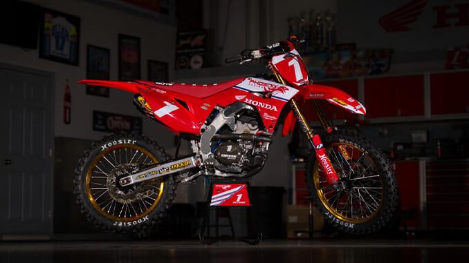 Kyle Peters Honda CRF250R Arenacross race machine.