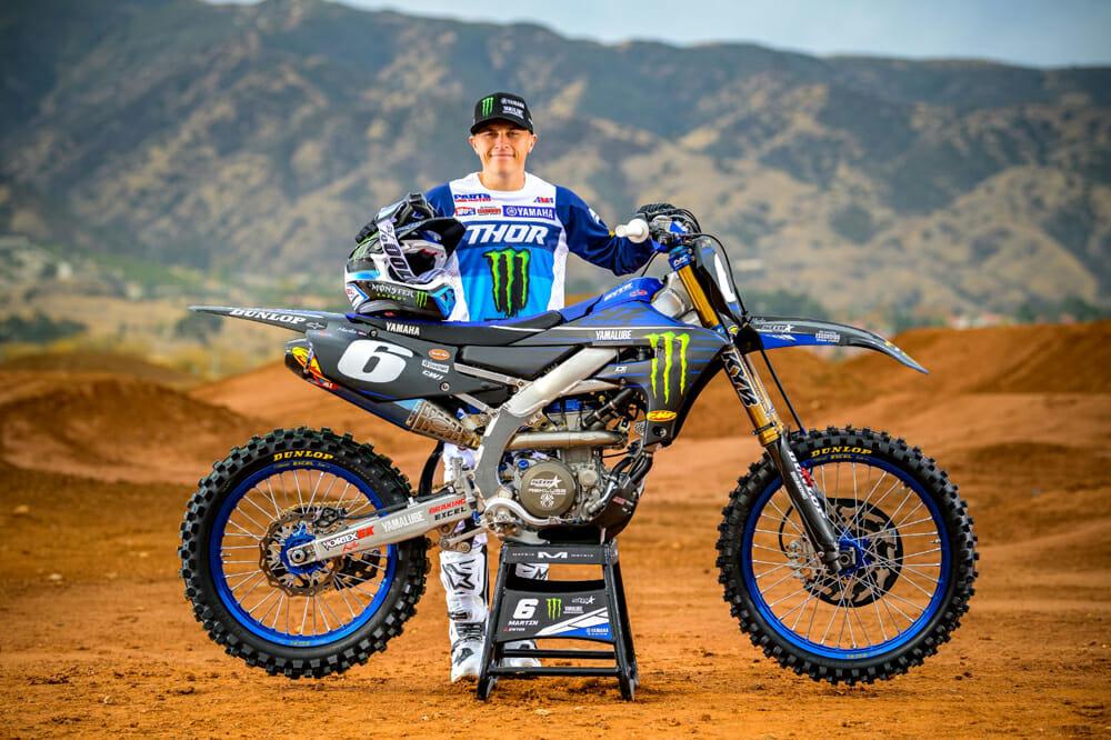 Monster Energy Star Yamaha Racing 250SX rider Jeremy Martin