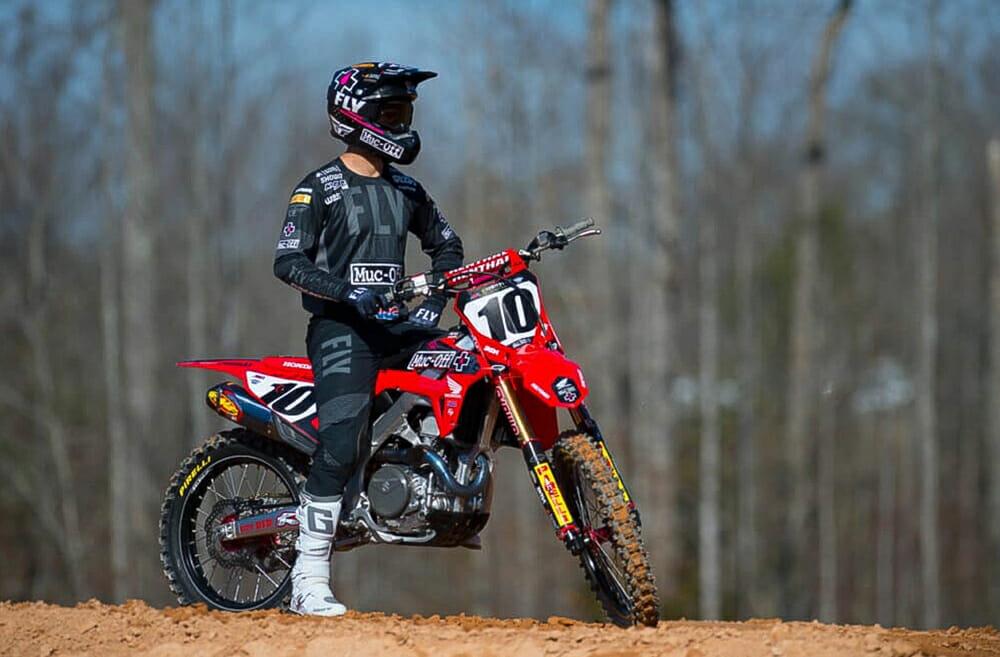 Muc-Off Honda rider Justin Brayton