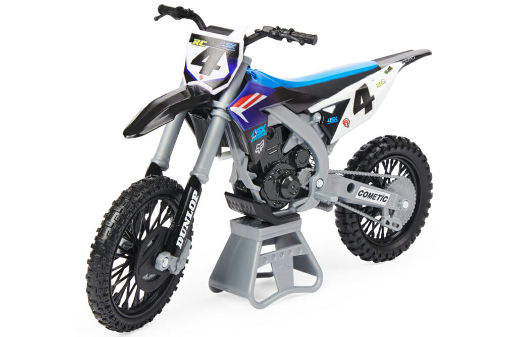 Spin Master Supercross rider Ricky Carmichael toy motorcycle