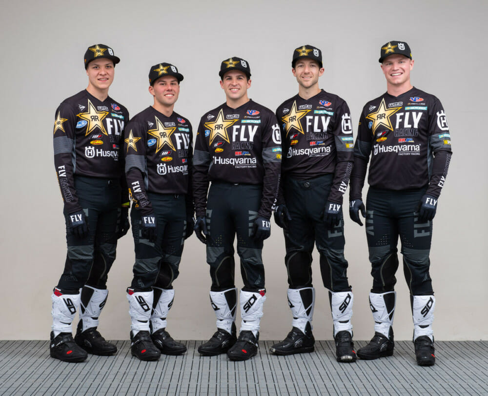 Rockstar Energy Husqvarna Factory Racing 2021 Off-Road Team. Photo by Simon Cudby