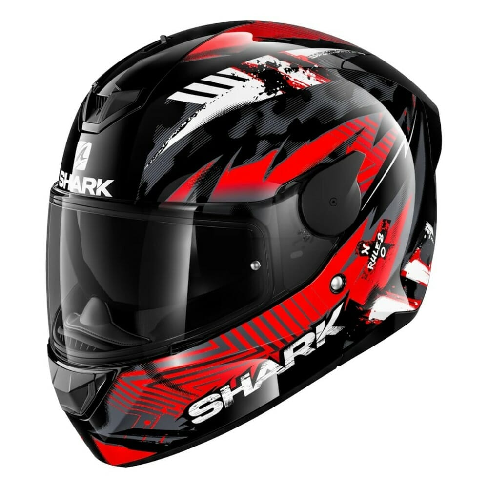 Shark D-Skwal2 Helmet in red/black penxa graphics