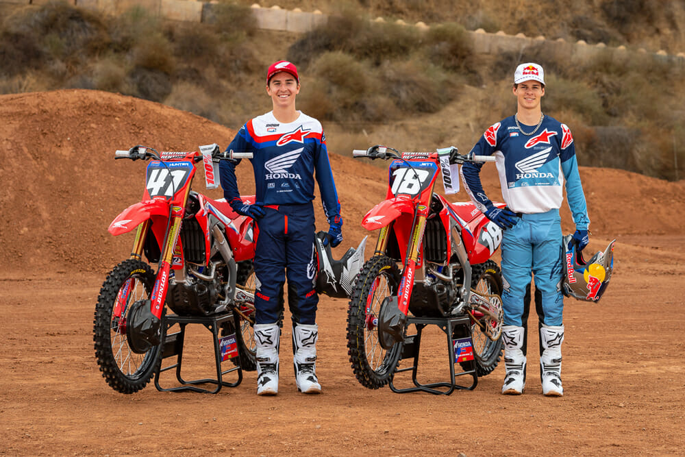 Team Honda HRC 250SX riders