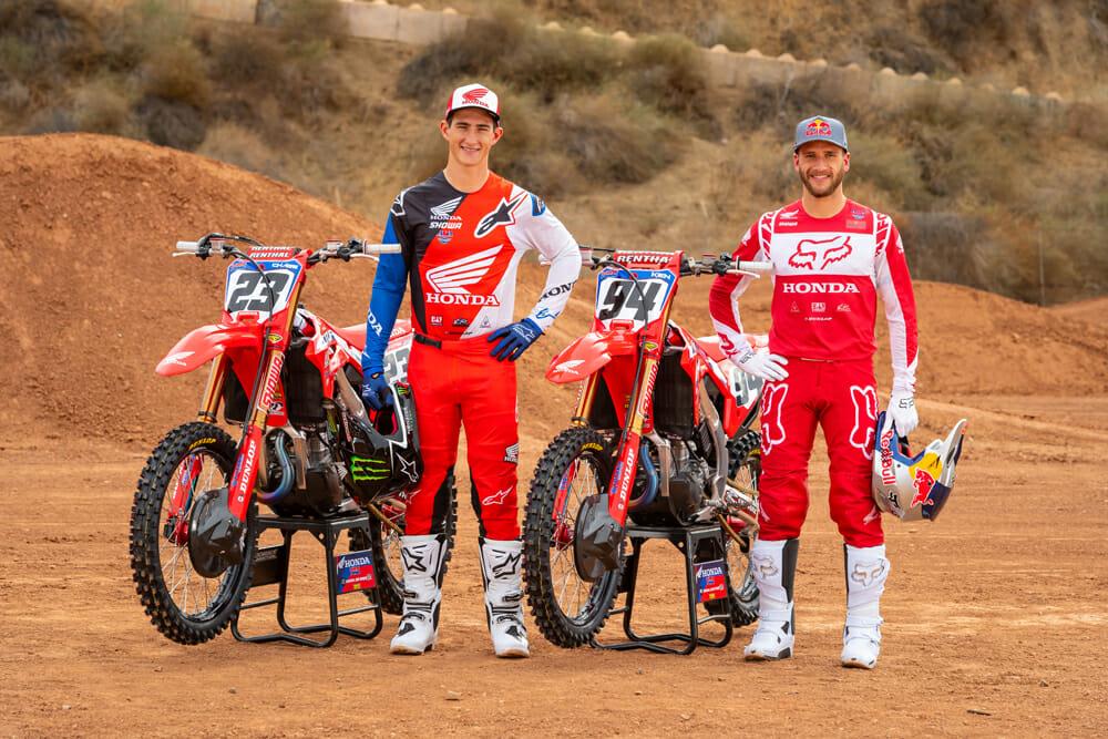Team Honda HRC 450SX riders