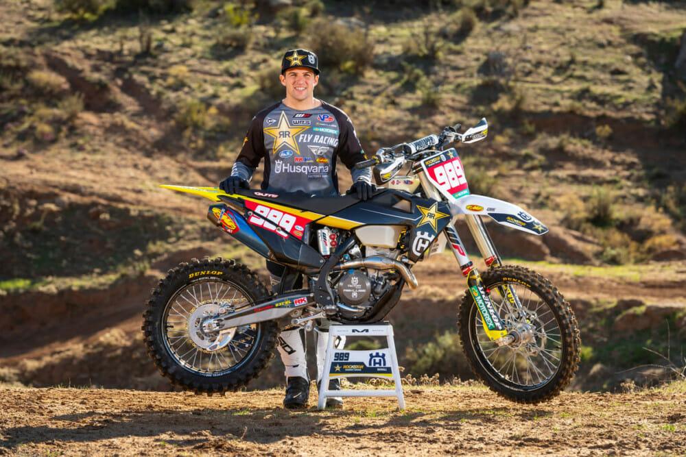 Thad Duvall of the Rockstar Energy Husqvarna Factory Racing 2021 Off-Road Team