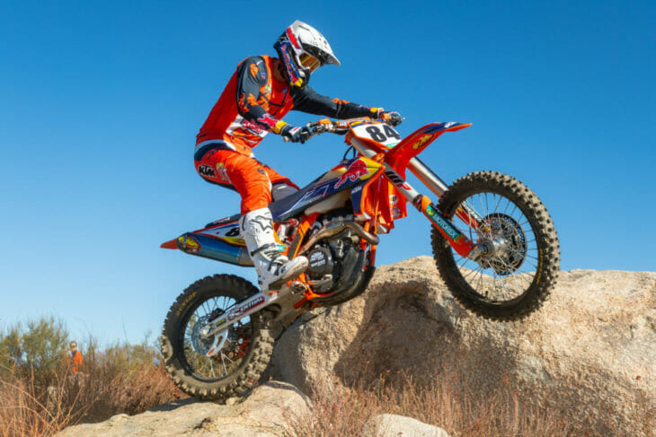 Trystan Hart and FMF Vision goggles