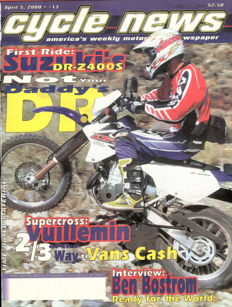2000 Cycle News Magazine with Suzuki DR-Z400S on cover