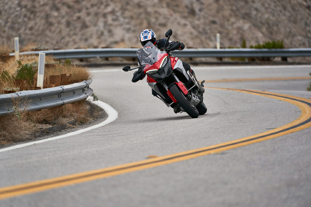 2021 Ducati Multistrada V4 S canyon ride
