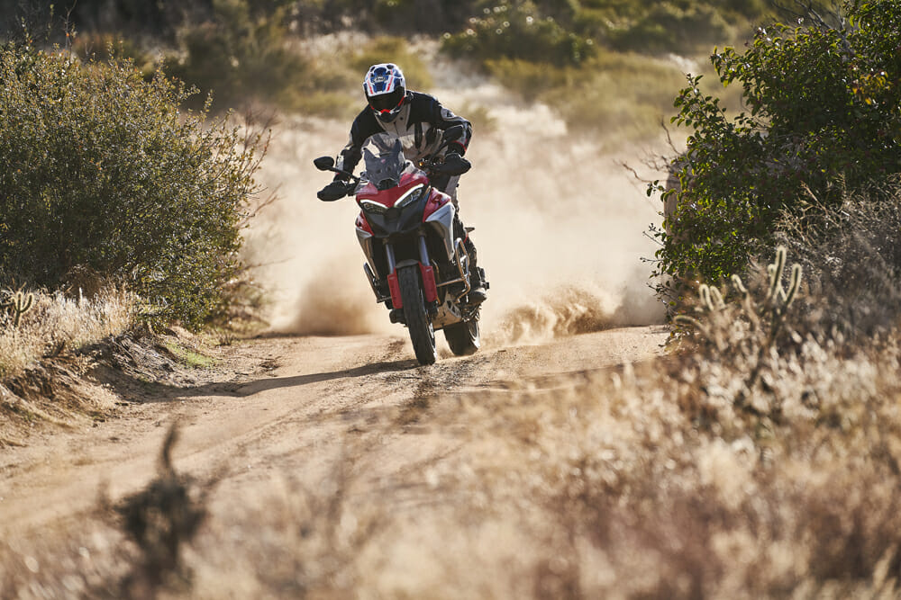 2021 Ducati Multistrada V4 S off-roading