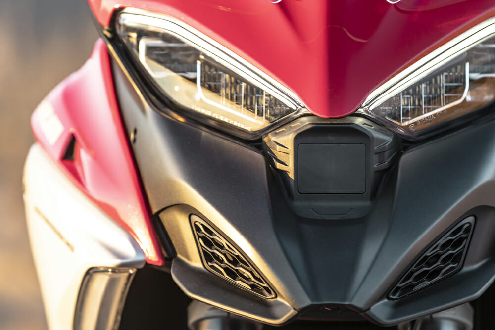2021 Ducati Multistrada V4 S radar box