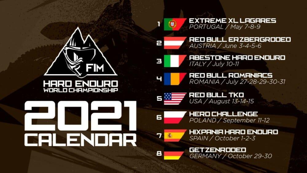 2021 FIM Hard Enduro World Championship Calendar Confirmed