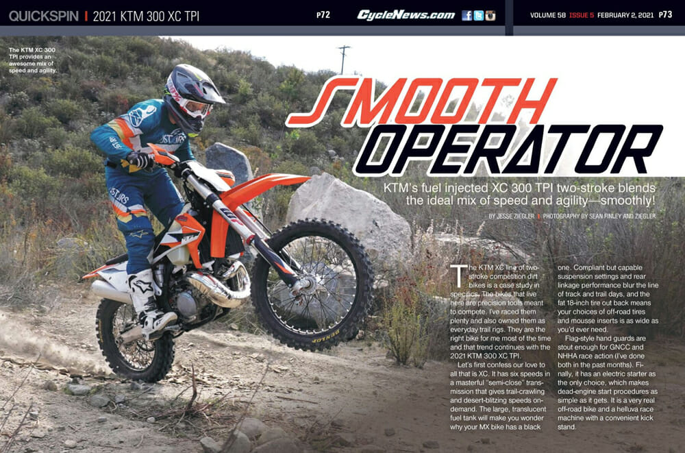 Cycle News Review 2021 KTM 300 XC TPI