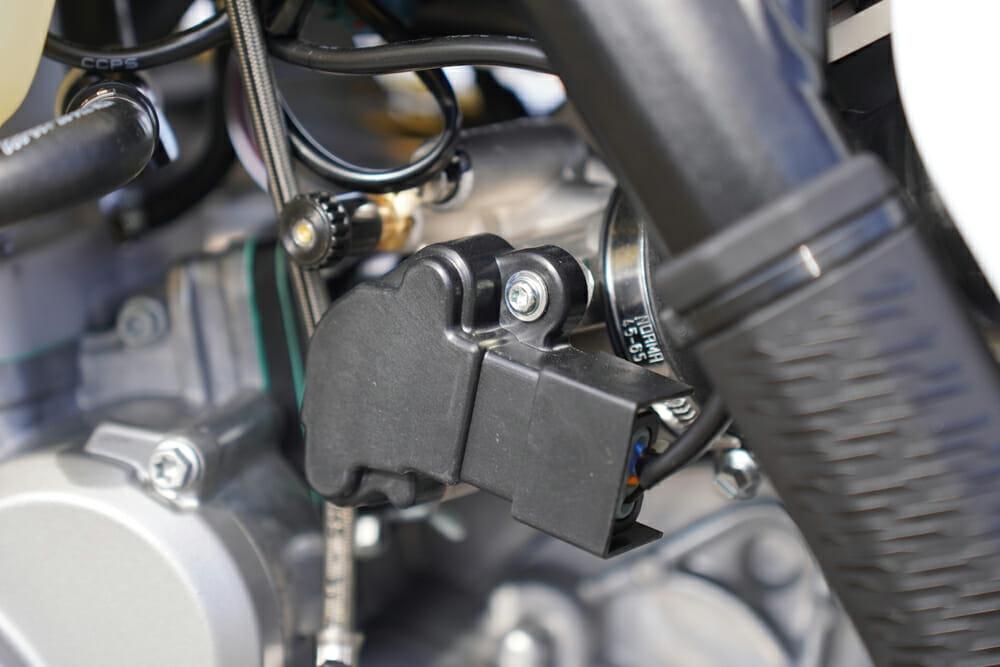 2021 KTM 300 XC TPI closeup of EFI