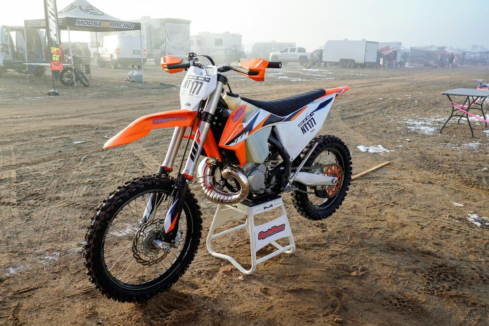 2021 KTM 300 XC TPI on bike stand