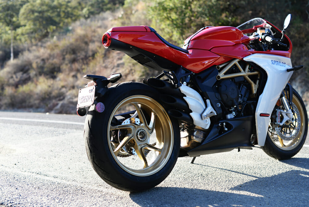 2021 MV Agusta Superveloce 800 rear view