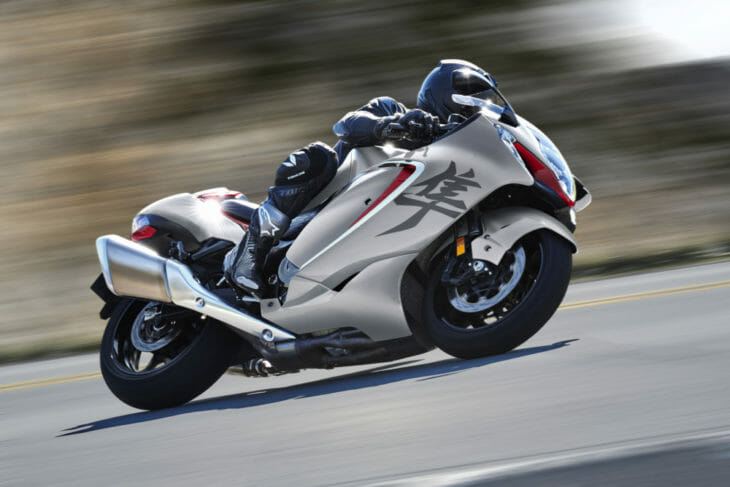 2022 Suzuki Hayabusa First Look riding