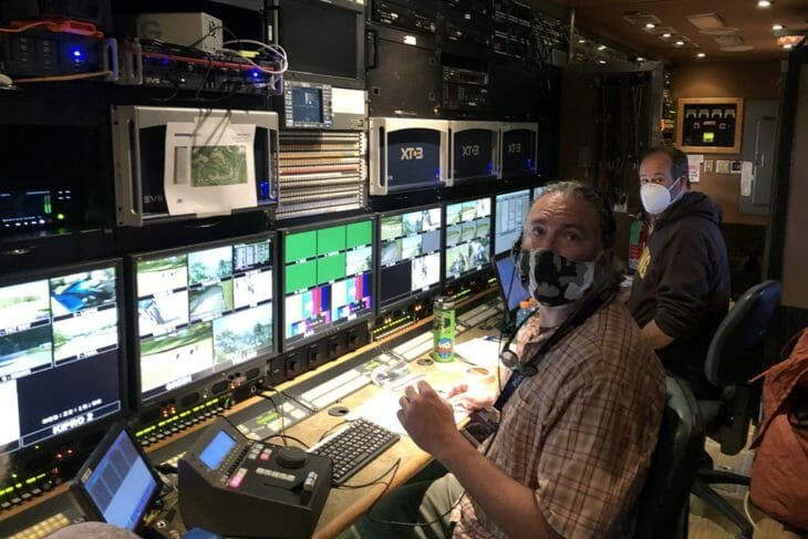 MotoAmerica 2020 TV production truck with monitors 1000x667