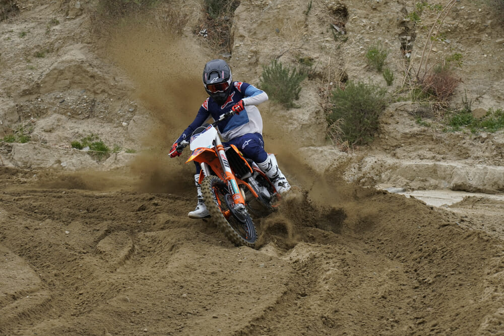 2021 KTM 450 SX-F Factory Edition Cornering