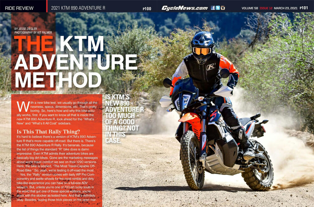 2021 KTM 890 Adventure R Cycle News Review