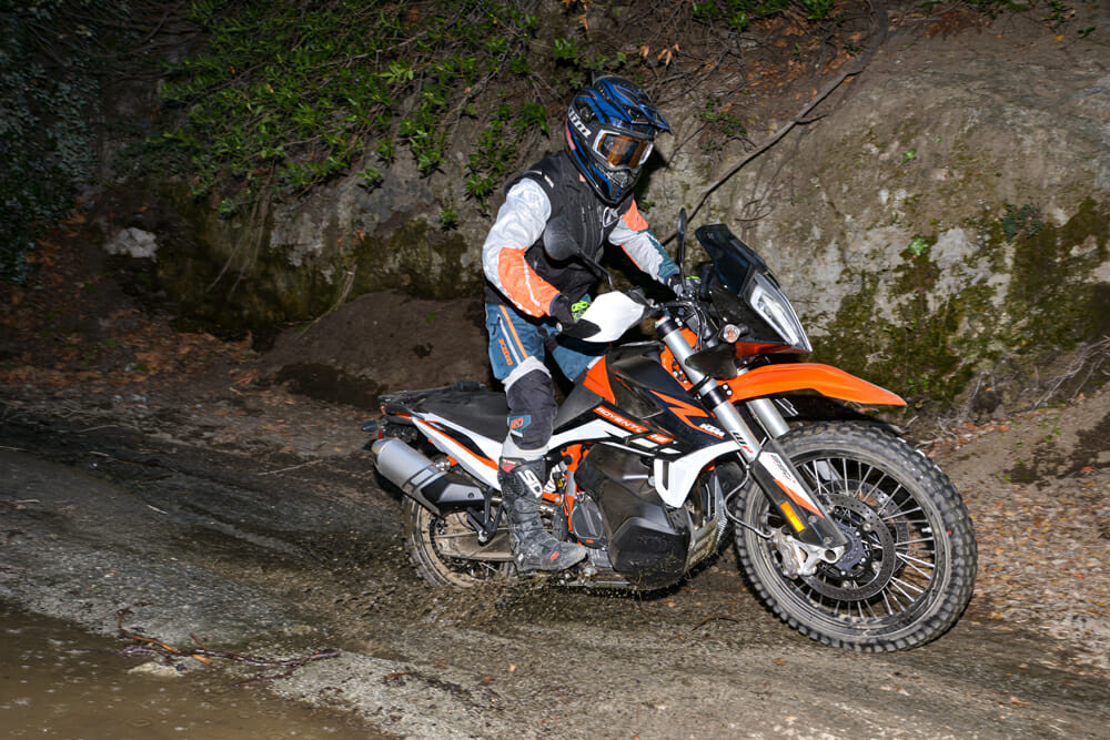 2021 KTM 890 Adventure R water crossing