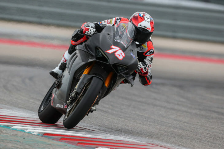 Loris Baz Leads Day One Of MotoAmerica Dunlop Preseason Test