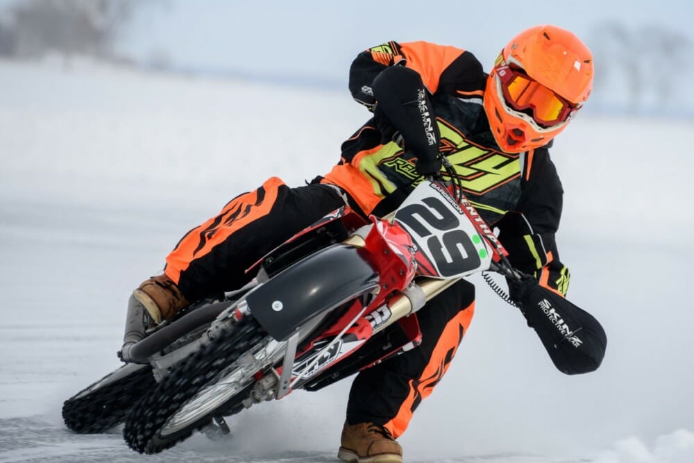Brady Bargeron in the 2021 AMA Ice Race Grand Championship