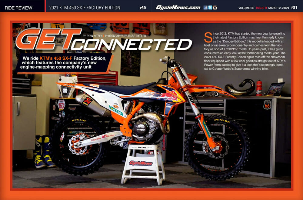Cycle News Review 2021 KTM 450 SX-F Factory Edition