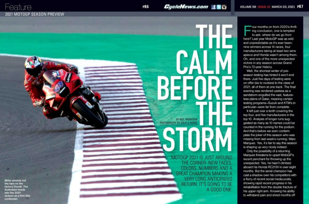 Cycle News Magazine 2021-MotoGP-Preview