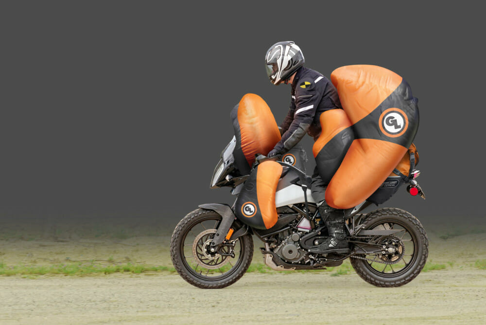Bümer Bäg™ Air Armor System Integrates with Giant Loop Motorcycle Soft Luggage