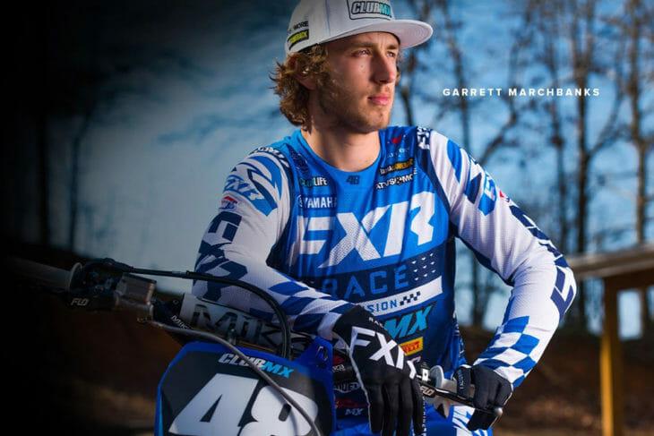 Garrett Marchbanks wearing FXR Racing Revo Flow Gear