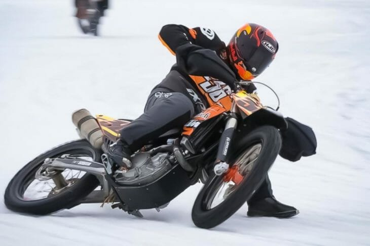 Mika Kallio Breaks Leg in Ice Racing Accident