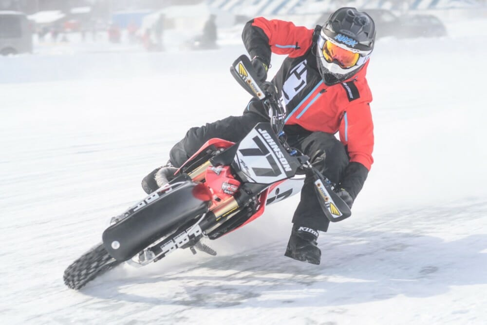 Kyle Johnson in the 2021 AMA Ice Race Grand Championship