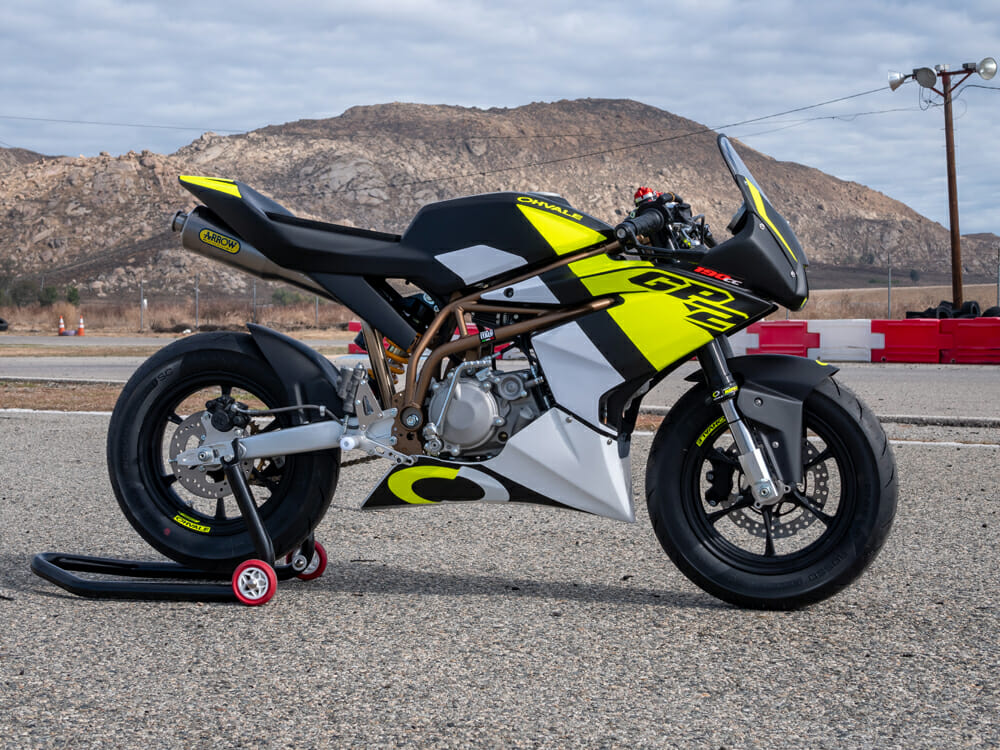 Ohvale GP-2 190 Daytona in black and yellow