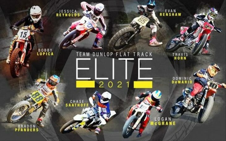 Dunlop Continues to Support Amateur Flat Track | Team Dunlop Elite Flat Track program provides discounted tires to amateur flat track racers.