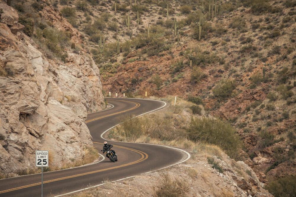 2021 Indian FTR Canyon road