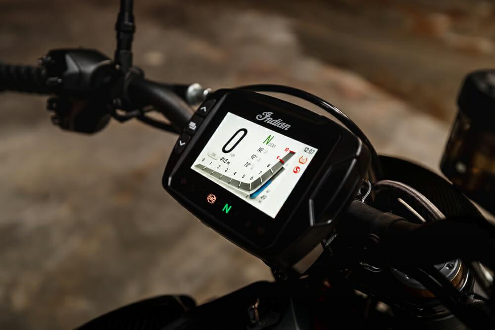 2021 Indian FTR touchscreen dash