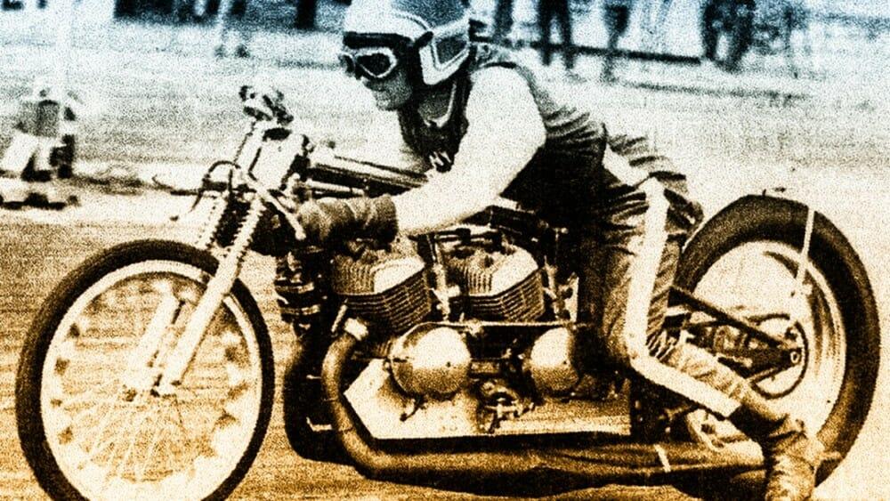 Drag Racer Tony Nicosia. Photo Courtesy of AHRMA
