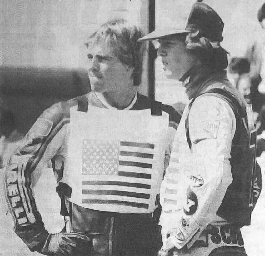 "Bruce Penhall (left) and Bobby ""Boogaloo"" Schwartz 1981"