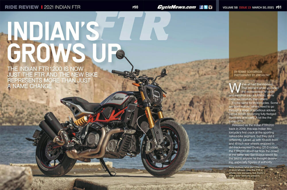 2021 Indian FTR Cycle News Review