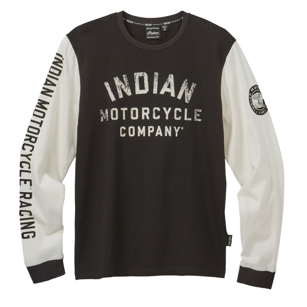 Indian Motorcycle Men's Long-Sleeve Colorblock Racing T-Shirt