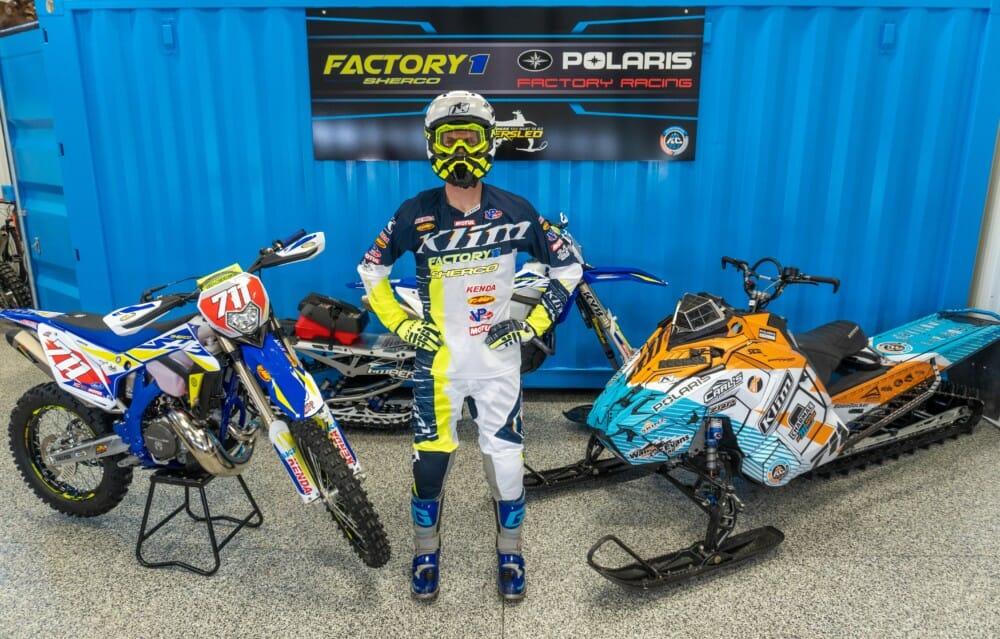 World Champion Snowmobile Hillclimber Keith Curtis Joins FactoryONE Sherco Team